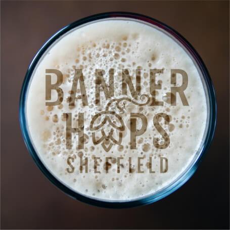 banner hops beer logo
