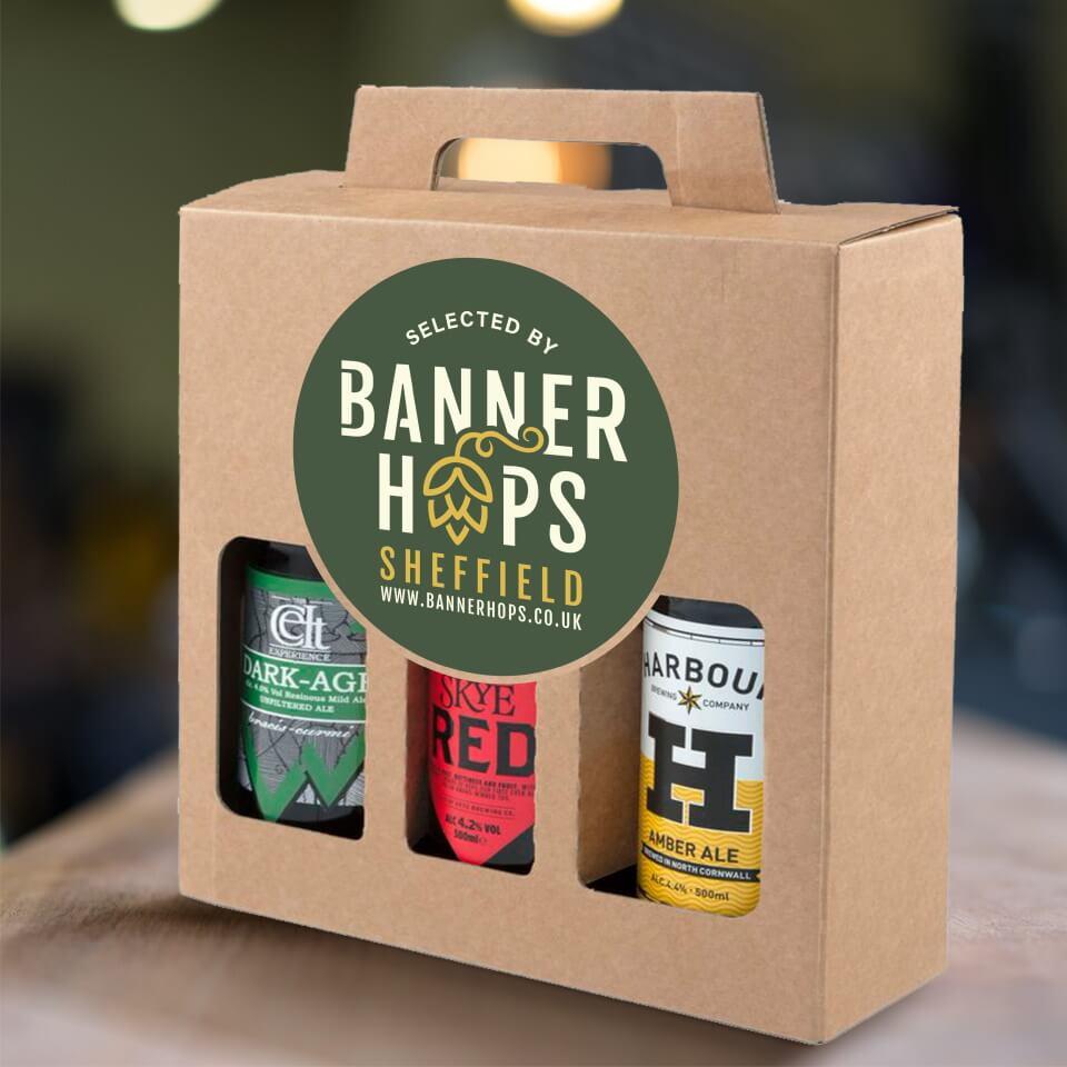 banner hops packaging design