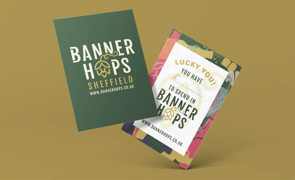 banner hops voucher design