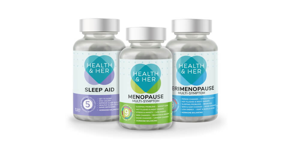 health and her bottle packaging design