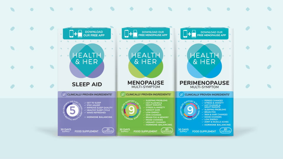 health and her box packaging design