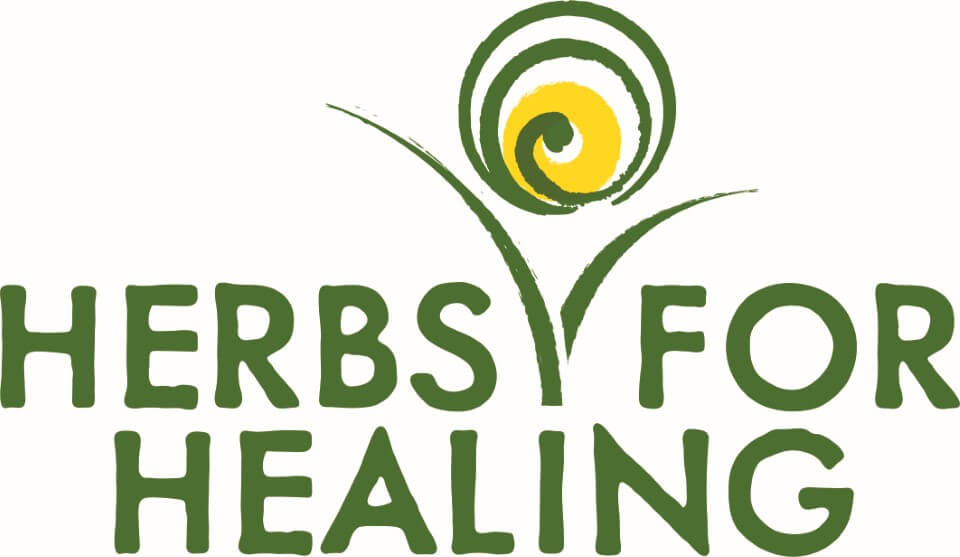 herbs for healing logo design