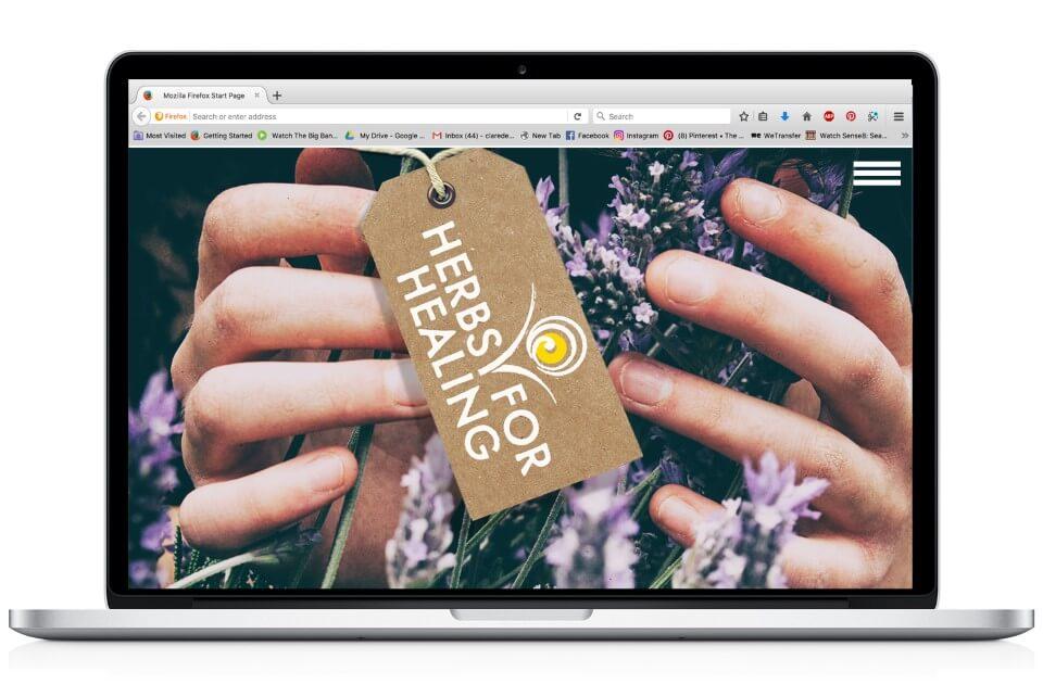 herbs for healing website design