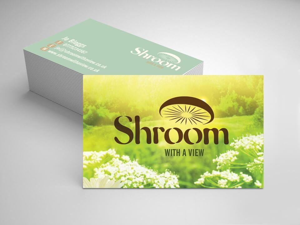 shroom business card design